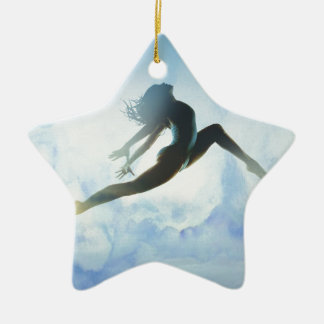 Dancer's Leap Ceramic Ornament