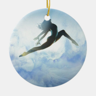 Dancer's Leap Round Ceramic Ornament