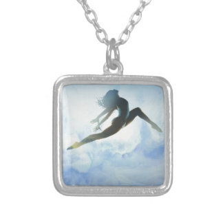 Dancer's Leap Silver Plated Necklace