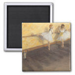 Dancers Practicing at the Barre by Edgar Degas Fridge Magnet