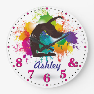 Dancer's Time Personalizable Wall Clock