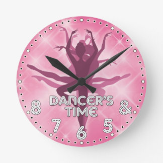 Dancer's Time Personalized Wall Clock