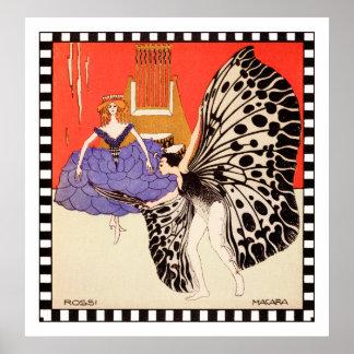 Dancers - Vintage Art Print by Kolo Moser