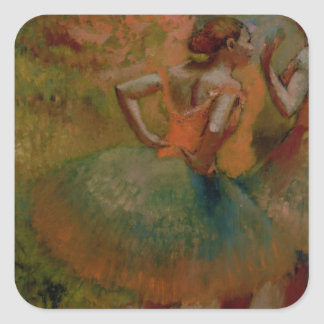 Dancers Wearing Green Skirts, c.1895 Square Sticker