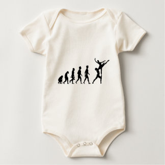 Dances dancer dance disco music evolution baby bodysuit