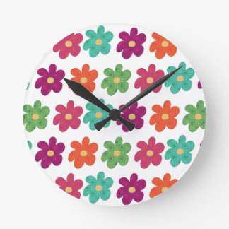 Dances With Flowers Clock