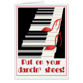 DANCIN' SHOES Card Invitation