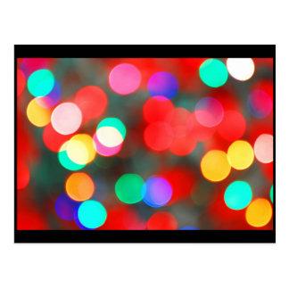 Dancing abstract lights postcard