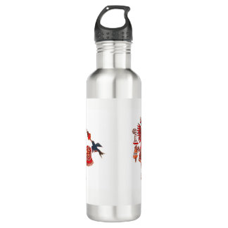 Dancing Aztec shaman warrior 710 Ml Water Bottle