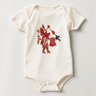 Dancing Aztec shaman warrior Baby Bodysuit