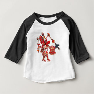 Dancing Aztec shaman warrior Baby T-Shirt