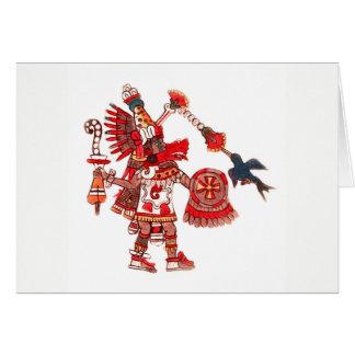 Dancing Aztec shaman warrior Card
