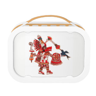 Dancing Aztec shaman warrior Lunch Box