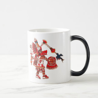 Dancing Aztec shaman warrior Magic Mug