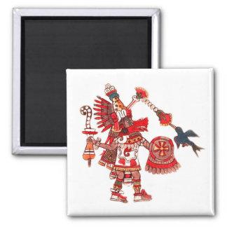 Dancing Aztec shaman warrior Magnet