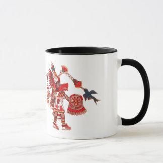 Dancing Aztec shaman warrior Mug