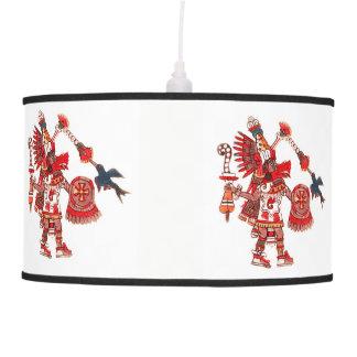 Dancing Aztec shaman warrior Pendant Lamp