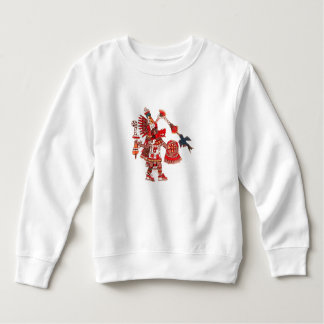 Dancing Aztec shaman warrior Sweatshirt