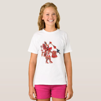 Dancing Aztec shaman warrior T-Shirt