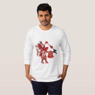Dancing Aztec shaman warrior T-Shirt