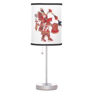 Dancing Aztec shaman warrior Table Lamp