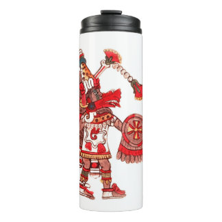 Dancing Aztec shaman warrior Thermal Tumbler