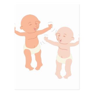 Dancing Babies Postcard