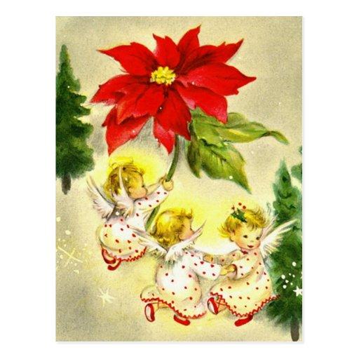 Dancing Baby Angels Vintage Postcard