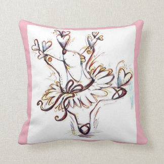 Dancing Ballerina Bear Throw Pillow