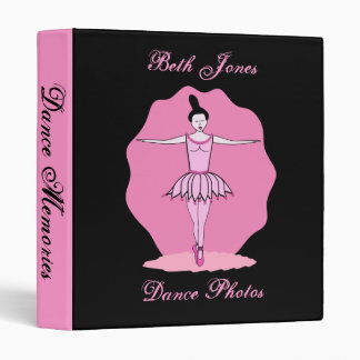 Dancing Ballerina Binder