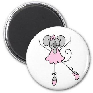 Dancing Ballerina Mouse Magnet