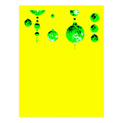 Dancing Balls Green Dk Inv Transp MUSEUM Zazzle Postcards