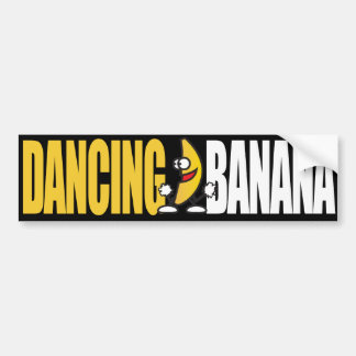 dancing bananayellow white bumper sticker