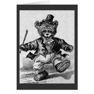 Dancing Bear Pat - Letter D - Vintage Teddy Bear Card
