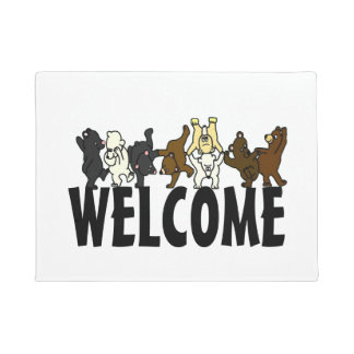 Dancing Bear Welcome Doormat