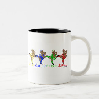 Dancing Bears Two-Tone Coffee Mug