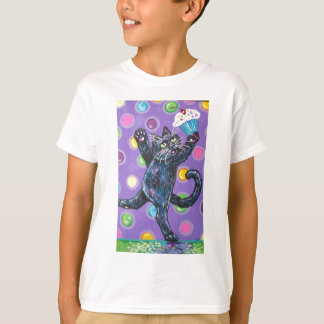 dancing black cupcake cat T-Shirt