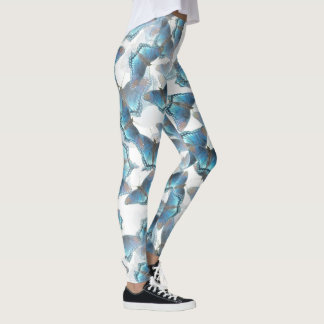 Dancing Blue Butterflies Leggings