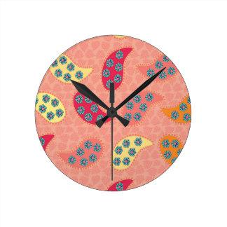 Dancing Boho Paisley Clocks