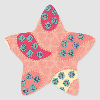 Dancing Boho Paisley Star Stickers