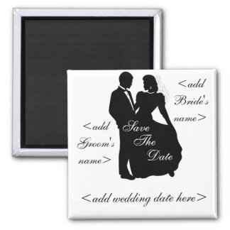 Dancing Bride and Groom Square Magnet