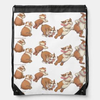 Dancing Bulldogs Drawstring Bag