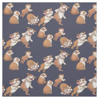 Dancing Bulldogs Fabric