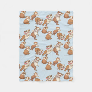 Dancing Bulldogs Fleece Blanket