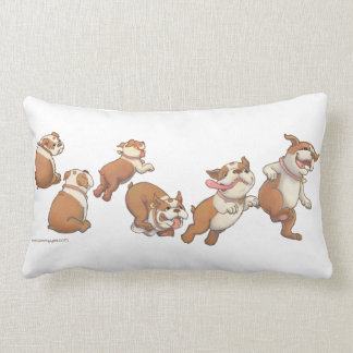 Dancing Bulldogs Lumbar Pillow