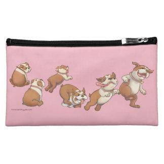 Dancing Bulldogs Makeup Bag