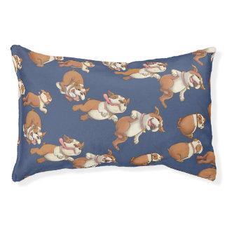 Dancing Bulldogs Pet Bed