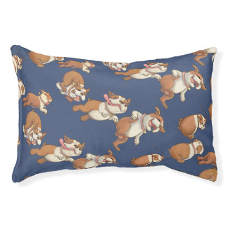 Dancing Bulldogs Small Dog Bed