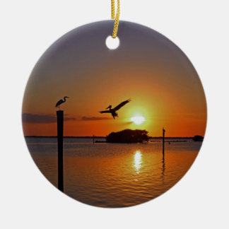 Dancing by Firelight Ceramic Ornament