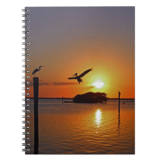 Dancing by Firelight Spiral Notebook